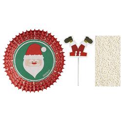 Pirutín Navideño con Letrero y Granillo Santa  24 Piezas Wilton
