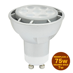 Foco Led MR16 7w GU10 Lumicino