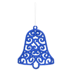 Campana Colgante Azul Vintage Xmas