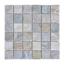 Mosaico Piedra Square Gris Beige 30.5x30.5cm