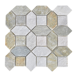 Mosaico Piedra Octadesing Gris Beige  30.5x30.5cm