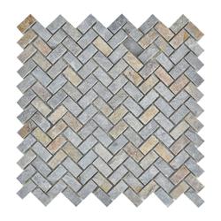 Mosaico Piedra Textile  Oxido 30.5x30.5cm