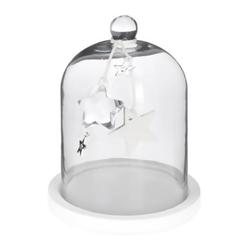 Adorno Navideño Campana de Cristal Decorativa