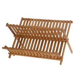 Escurridor de Platos Bambú Plegable