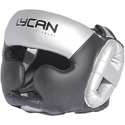 Casco de Boxeo Silver Black L Lycan