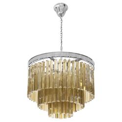 Lámpara Colgante Cromo  de Vidrio