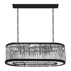 Lámpara Colgante Oval Vidrio