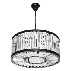 Lámpara Colgante de Vidrio con 8 Boquillas
