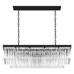 Lámpara Colgante Rectangular de Vidrio con 10 Boquillas