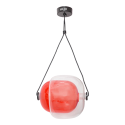 Lámpara Colgante Led Roja Transparente