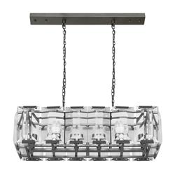 Lámpara Colgante Vidrio y Metal con 12 Boquillas