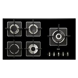 Cocina a Gas con 4 Quemadores + 1 Triple Corona de Cristal de 91x51cm Dipiu