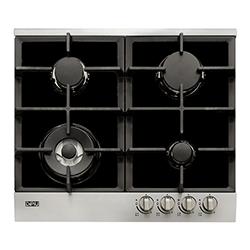 Cocina a Gas con  3 Quemadores + 1 Triple Llama de Acero Inoxidable de 58x51cm Dipiu