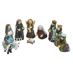 Nacimiento Mini  Sagrada Familia en Set de 11 Piezas