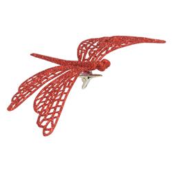Libélula Decorativa  Roja