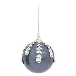Bola  Azul Oscuro con Hojas 8cm
