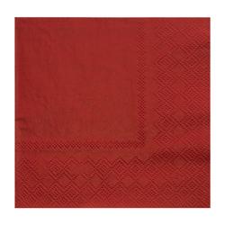 Servilleta de Papel  Roja   20 Unidades