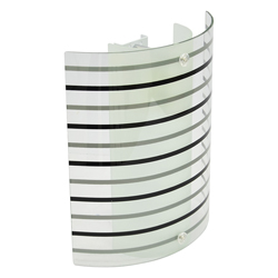 Lámpara de Pared con Pantalla Transparente y Diseño de Rayas