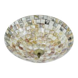 Lámpara para Techo Mosaico Café Gris 60w