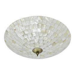 Lámpara para Techo Mosaico Blanco Beige 60w
