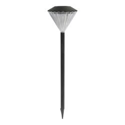 Lámpara Solar con Estaca Negra  para Jardín