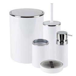 Accesorios para Baño  Blanco Cromo Lenox