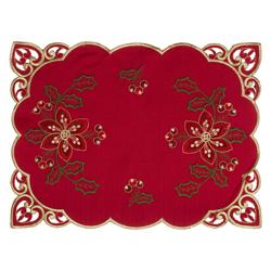 Individual de Tela Rojo con Dorado 30x45cm Santini