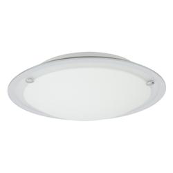 Plafón de Vidrio Circular Arenado Espejo 60w