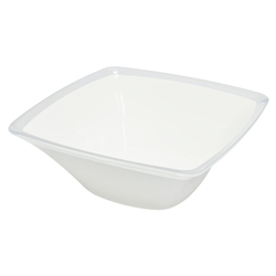 Bowl Cuadrado Blanco  Omada