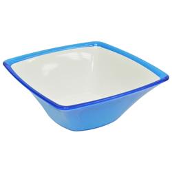Bowl Cuadrado Turquesa con Blanco Omada