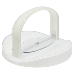 Porta Servilleta Blanca Transparente con Agarradera Omada