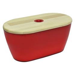 Panera Roja con Tapa de Madera Omada