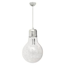 Lámpara Colgante Tipo Foco Transparente Cromo
