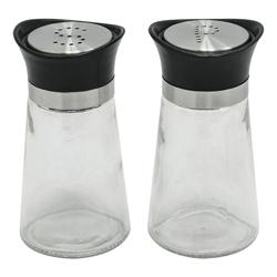 Salero y Pimentero de Vidrio en Set de 2 Piezas