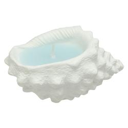 Vela con Diseño de Caracol Blanco