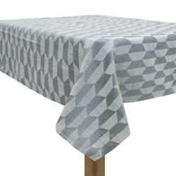 Mantel Gris con Diseño de Trapecio