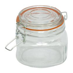 Envase de Vidrio con Tapa Hermética 400ml