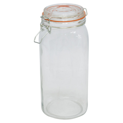 Envase de Vidrio con Tapa Hermética 2 Litros