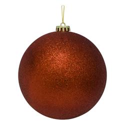 Bola Navideña Grande Roja Escarchada 15cm