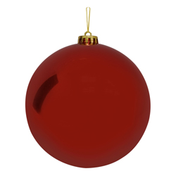 Bola Navideña Grande Rojo  Brillante 15cm