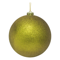 Bola Navideña Oro Escarchada 15cm
