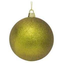Bola Navideña Oro Escarchada de 30cm