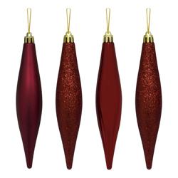 Gota Navideña  Roja en  Set de 4 Piezas de 15cm