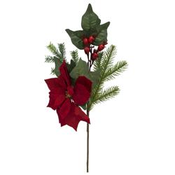 Rama Pick Flor Roja