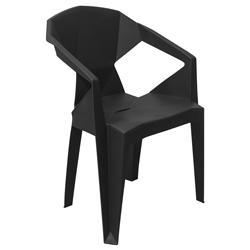 Silla Prisma Apilable Negra
