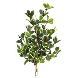 Rama con Hojas Verdes  y Cerezos 60cm