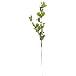 Rama con Hojas Verdes  y Cerezos   66cm