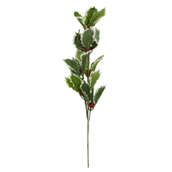 Rama  con Hojas  Verdes  y Cerezo 40cm