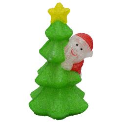 Santa con Árbol con Luz Led 50cm