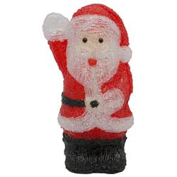 Santa Acrílico con  Luz Led 35cm